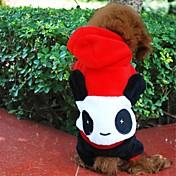 Perros Disfraces / Saco y Capucha / Accesorios Negro / Blanco Ropa para Perro Invierno Animal Cosplay / Halloween