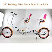 Bicicletas Confort Ciclismo Others 20 pulgadas Unisex Doble Disco de Freno Suspensión por Muelle Monocoque Ordinario Acero Naranja
