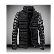 la moda de empalme ocasional ropa de algodón acolchado térmico de Niki hombres