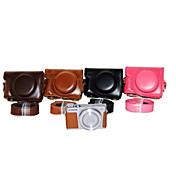 dengpin® pu bolsa de cuero caja de la cámara cubierta con correa para el hombro para Canon Powershot G9 x (colores surtidos)