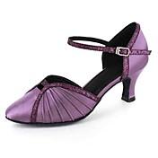 Zapatos de baile(Negro Azul Morado Rojo Blanco Gris) -Latino Moderno-Personalizables-Tacón Personalizado