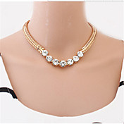 Mujer Gargantillas Collar con perlas Collares Declaración Perla Legierung Moda Joyería Destacada Estilo lindo Europeo joyería de disfraz