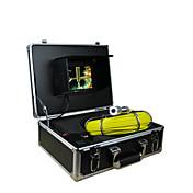 inspección de tuberías 30m sistema de inspección de tuberías pared de la tubería de la cámara de 7 pulgadas TFT con 12 llevó las luces de