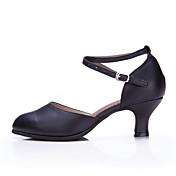 No Personalizables Mujer Ballet Latino Zapatillas de Baile Moderno Salsa Samba Zapatos de Swing Cuero Zapatillas Tacones Altos Exterior