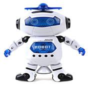 360 niños danzantes giran electrónica caminar robot smart niños frescos astronauta juguetes luz música modelo