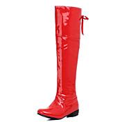 Mujer-Tacón Robusto Talón de bloque-Botas a la Moda Zapatos del club Light Up Zapatos-Botas-Exterior Oficina y Trabajo Informal-Semicuero-