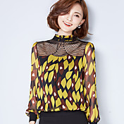 firmar la nueva gasa de flores de encaje bordado costura de gran tamaño pequeño basa la camisa blusas de la camisa