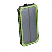 16000mAhbanco de la energía de la batería externa Carga Solar Multisalida Linterna Impermeable Antigolpes 16000 2000Carga Solar