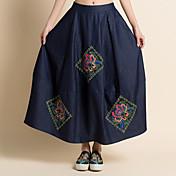 コスプレ イベント/ホリデー ハロウィーンコスチューム インクブルー フラワー スカート 女性用