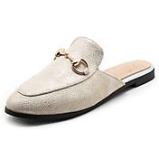 Mujer-Tacón PlanoZapatillas y flip-flop-Vestido Informal-PU-Blanco Beige