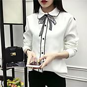 Firmar en la primavera de 2017 arco temperamento fan camisa de pana femenina Corea del otoño y el invierno de manga larga suelta viento de