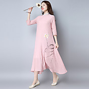 2017 resorte y vestido de verano vestido zen doble falda grande retro teatral xian qi servicio de té