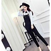 Signo 2017 primavera nuevo coreano moda salvaje color sólido cultivar camisa de manga larga