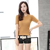 2016 versión coreana de la primavera y el verano salvaje delgada paquete escotado de la cadera de la PU de los pantalones cortos