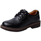 Hombre Zapatos de taco bajo y Slip-Ons Confort Cuero Otoño Invierno Boda Casual Con Cordón Tacón Bajo Negro Café Marrón Menos de 2'5 cms