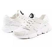 Mujer Zapatillas de Atletismo Confort PU Primavera Otoño Confort Blanco Negro Negro/blanco Plano