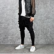 Hombre Sencillo Tiro Medio Microelástico Pantalones de Deporte Pantalones,Pantalones Harén Un Color