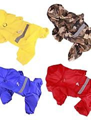Pes Pláštěnka Oblečení pro psy Běžné/Denní Jednolitý Žlutá Červená Modrá Kamuflážní barva