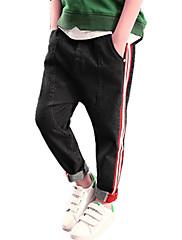 Para Meninos Jeans Listrado Outono Todas as Estações