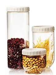 3 Cozinha Plástico Armazenamento de alimentos