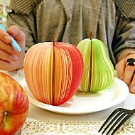 Tyylikäs omenanmuotoinen muistilappu lehtiö - suuri (noin 150 sivuinen)