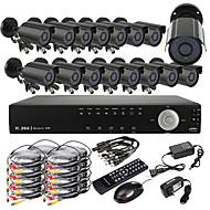 ウルトラDIY 16CHリアルタイムH.264 CCTV DVRキット(16PCS 420TVL防水ナイトビジョンのCMOSカメラ)