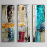 Pintados à mão Abstrato Vertical,Moderno Estilo Europeu 3 Painéis Pintura a Óleo For Decoração para casa