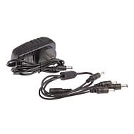 dc 12v 2a cordon caméra de surveillance de puissance de l'adaptateur de courant alternatif 1 à 4 pour la caméra