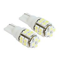 2ks 20-SMD T10 12V bílé světlo LED náhradní žárovky