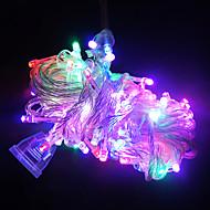 10m מחרוזת ארוכה 100 נוריות של אורות לקישוט חג המולד (צבעים שונים)