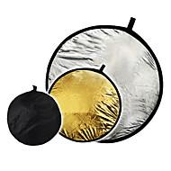 """32 """"2 in1 Silber goldene Scheibe zusammenklappbaren Reflektor 80cm"""