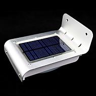 מנורות כוח חיצוני סולארית 16 בראשות חיישן תנועת גלאי אבטחת גן אור