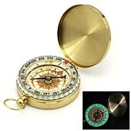 Flip-Open kullattu noctilucent Pocket Compass