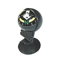 Mini Suunnattu Traval Auton Compass wiht imukupin - Musta