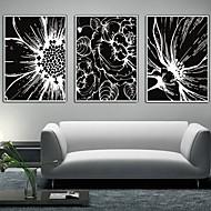 Bloemenmotief/Botanisch Ingelijst canvas / Ingelijste set Wall Art,PVC Wit Zonder passepartout met Frame Wall Art