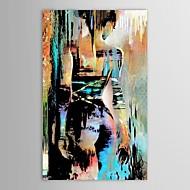 Ручная роспись Люди Вертикальная,Modern 1 панель Hang-роспись маслом For Украшение дома