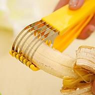 """banán szeletelő chopper gyümölcs vágó uborkasalátával, acél és műanyag 7 """"x1.6"""" x1.52 """""""