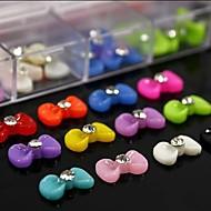 100kpl mix väri hartsi rusetti tekojalokivi tarvikkeet eivät sisälly laatikko 3d nail art koristelu