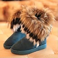 Sko - Semsket lær - Flat hæl - Snøstøvler - Støvler - Fritid - Svart / Blå / Gul