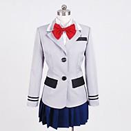 Inspirat de Cosplay Cosplay Anime Costume Cosplay Costume Cosplay Peteci Cămașă Vârf Fustă Guler Pentru Feminin