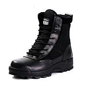 Herre-Lær-Flat hæl-Komfort-Støvler-Friluft-