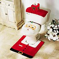 3 sztuk święta łazienka akcesoria, 1szt sedes 1szt uchwyt na papier toaletowy z WC 1szt mat