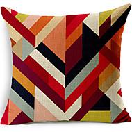 multicolor geometrische katoen / linnen decoratieve kussensloop