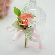 "Wedding Flowers Free-form Roses Boutonnieres Wedding Party/ Evening Cotton Silk 1.97""(Approx.5cm)"