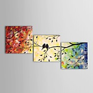Hånd-malede Landskab Tre Paneler Canvas Hang-Painted Oliemaleri For Hjem Dekoration