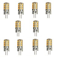 YWXLight 2W G4 LED Bi-pin Lights 24 SMD 2835 200 lm Warm White DC 12 V 10 pcs