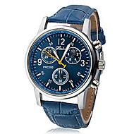 Pánské Náramkové hodinky Křemenný PU Kapela Černá Bílá Modrá Bílá Černá Modrá