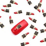 10kpl punainen kynsikoristeet metalliseos siivu metallinen musta Nail design koruja manikyyri maanantai teema päivittäin kynnet