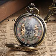 Bărbați Ceas de buzunar ceas mecanic Mecanism manual Gravură scobită Aliaj Bandă Vintage Luxos Bronz