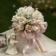 16cm Dia Wedding Bouquet Wedding Bride Holding Flowers,Silk Colth Simulation Rosebud